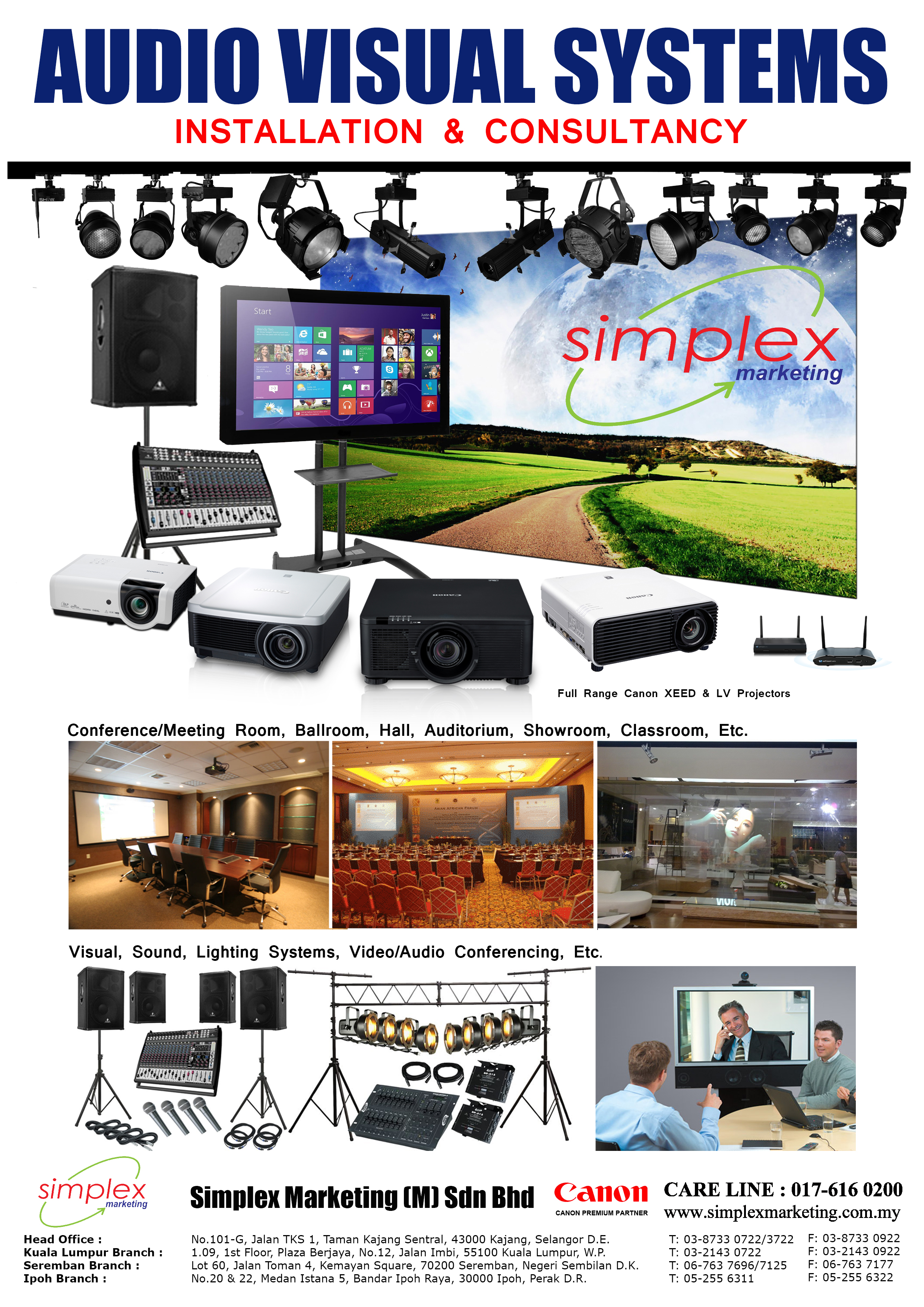 180802 - Flyer - Projector Full AV System
