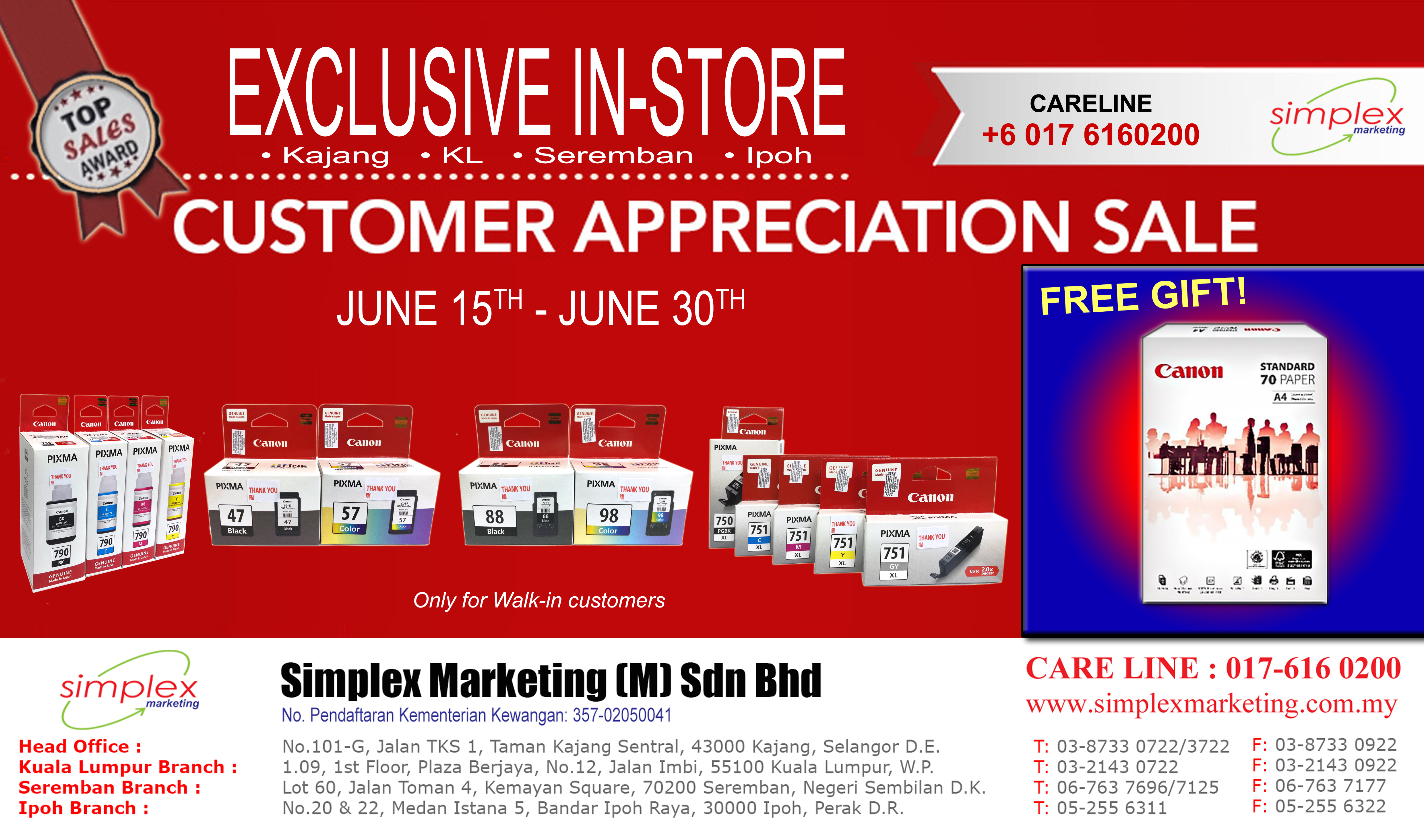190613 - Buy Ink Free Paper Promo - BANNER A3