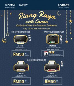 RIANG RAYA WITH CANON - Exclusive Promo for Corporate Customers